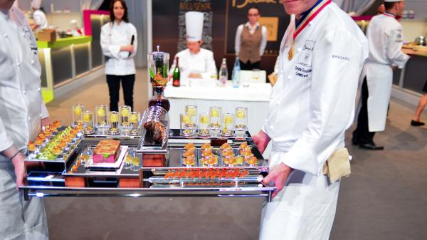 The plating of Team USA's Irish beef dish was based on Frank Lloyd Wright's Fallingwater house.