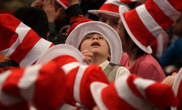 A sea of Seuss hats at an event at the Library of Congress in 2010.