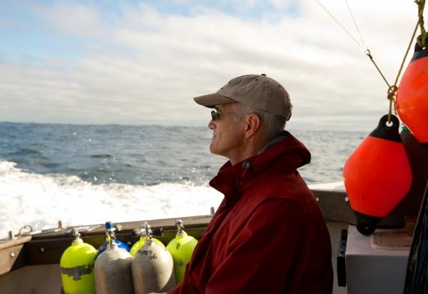 Steve Campana runs the Canadian Shark Research Laboratory. He works to tag sharks with satellite transmitters to find out how long they survive after being caught and released.