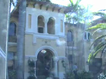 The mansion Andre Barbosa was squatting in.
