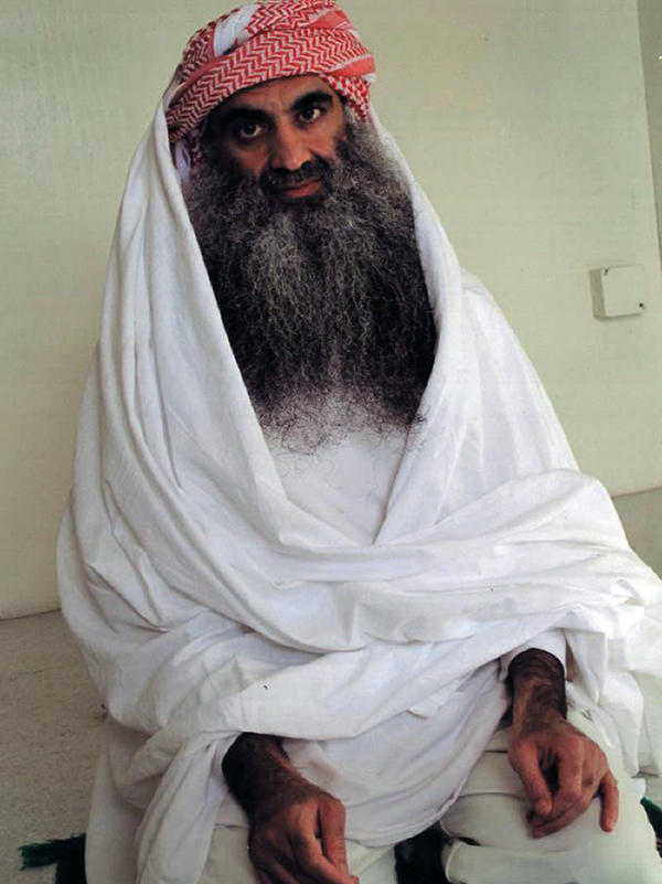 Khalid Sheikh Mohammed, seen in a file photo, and four other defendants accused of the Sept. 11 terrorist attacks appeared before a military commission in Guantanamo Bay, Cuba, on Monday. The session focused on procedural matters.