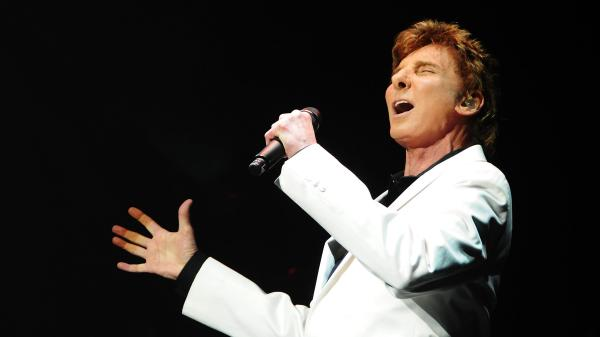 Barry Manilow performing at the opening night of his show <em>Manilow On Broadway</em> in January.