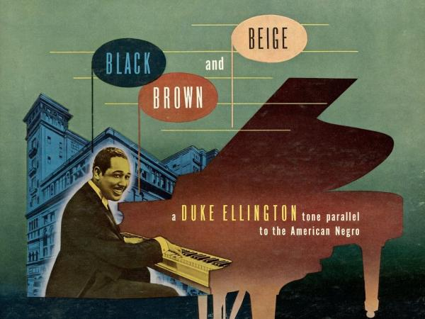 Detail from the original cover art to Duke Ellington's <em></em>1944 studio recording <em>Black, Brown and Beige</em>.