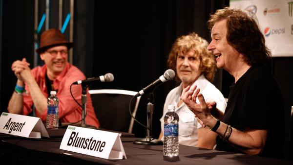Bob Boilen, host of NPR Music's <em>All Songs Considered</em>, interviews The Zombies at SXSW.