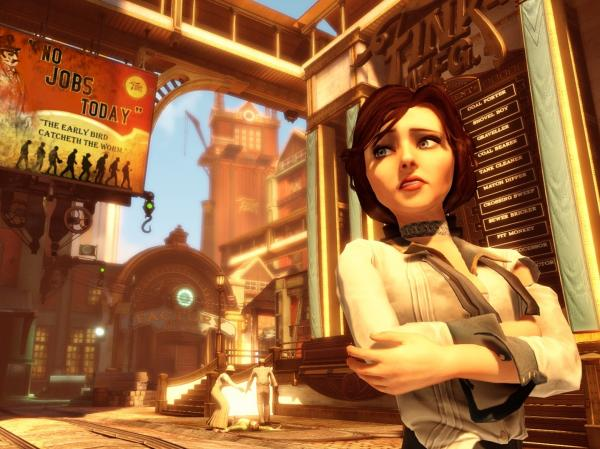 In <em>BioShock Infinite</em>, your task is to rescue Elizabeth from the city of Columbia and return her to New York.