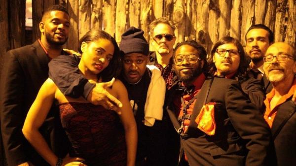Ghostface Killah with Adrian Younge and his band, Venice Dawn, after their first performance together. Ghostface Killah and Adrian Younge's new album, <em>Twelve Reasons To Die</em>, comes out April 16.