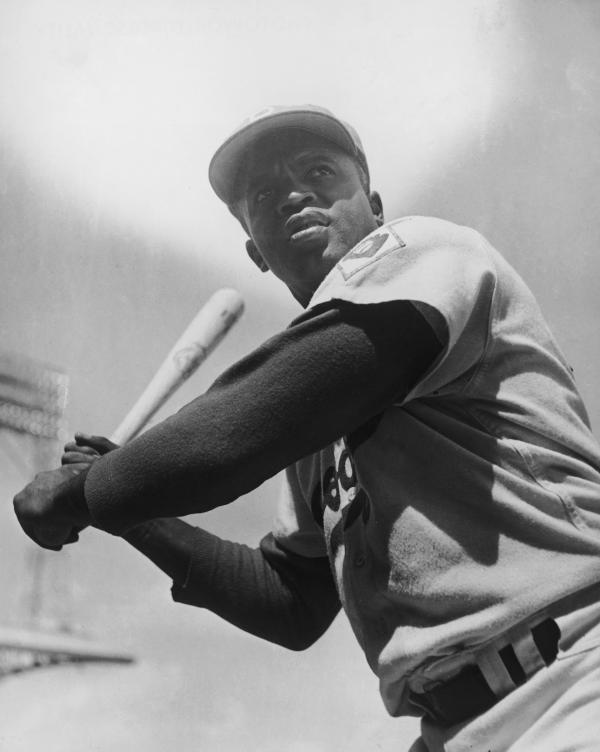 When Jackie Robinson (pictured here circa 1950) first stepped onto the field for the Brooklyn Dodgers in 1947, he became the first African-American player in the major leagues.
