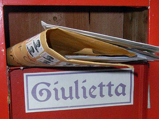 The Juliet Club <em>(Club di Giulietta)</em> mailbox in Verona, Italy. Volunteers answer by hand every single letter that the club receives.