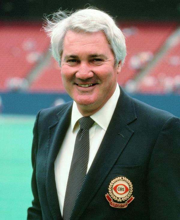 Pat Summerall in 1989, when he was broadcasting for CBS Sports.