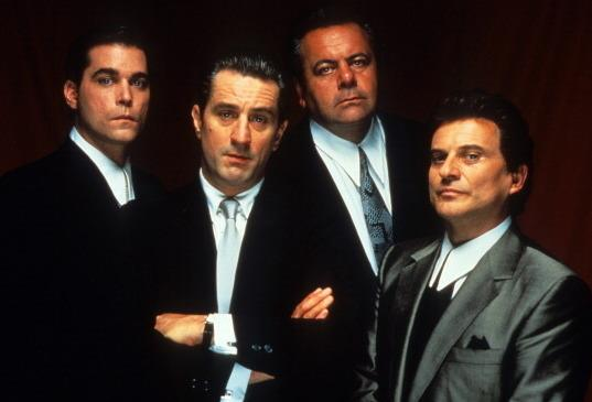 Actors Ray Liotta (from left), Robert De Niro, Paul Sorvino and Joe Pesci in Martin Scorsese's <em>Goodfellas</em>.