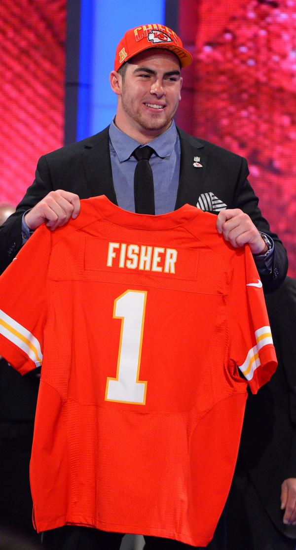 Eric Fisher, offensive tackle from Central Michigan, was the No. 1 pick in the 2013 NFL draft. He was chosen by the Kansas City Chiefs.