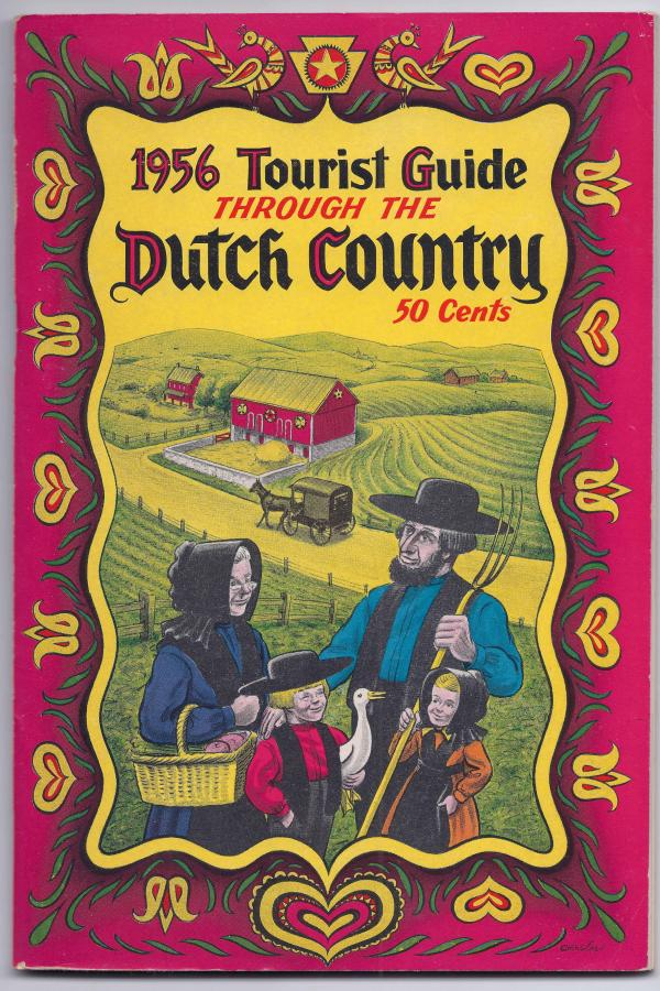 The Amish are just one part of Pennsylvania Dutch culture, but decades of tourism marketing, as shown in this 1950s brochure, have made Amish and Pennsylvania Dutch synonymous in the minds of many.