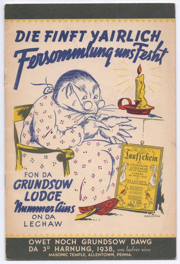 "In the 1930s, ""groundhog lodges"" like the Grundsau Lodge in Allentown, Pa., were created to preserve the Pennsilfaanisch Deitsch dialect and traditional foods. The lodges met on Feb. 2, continuing the old German tradition of predicting weather based on the groundhog's first appearance in spring."
