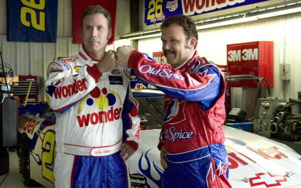 Will Ferrell and John C. Reilly in Adam McKay's <em>Talladega Nights: The Ballad of Ricky Bobby</em>.