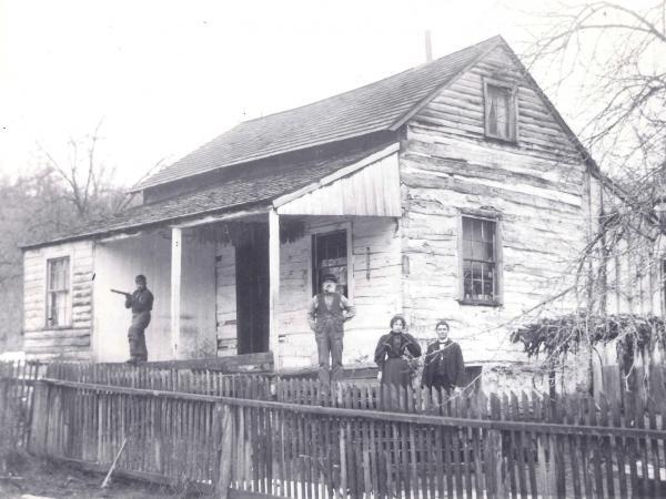 A typical Buckwheat Dutch two-room log house circa 1896.