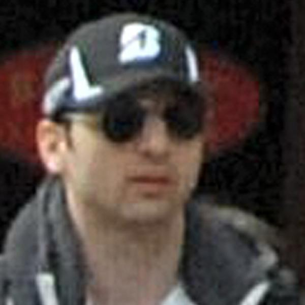 Tamerlan Tsarnaev, as seen in a video taken on April 15 near the finish line of the Boston Marathon.