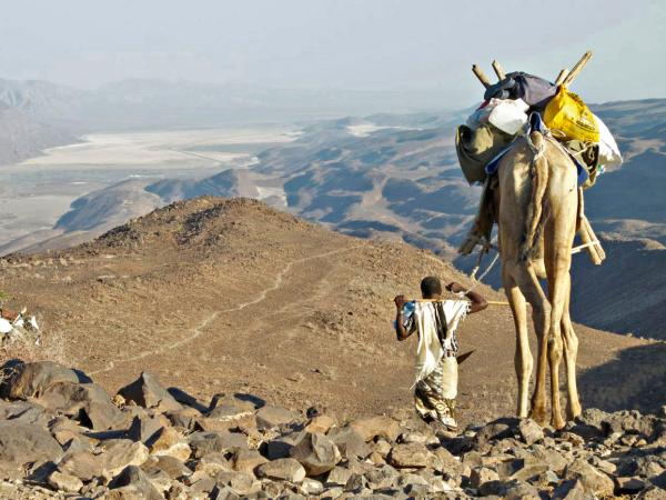Salopek reaches the end of the trail in Ethiopia and descends into Djibouti, on the Red Sea coast.
