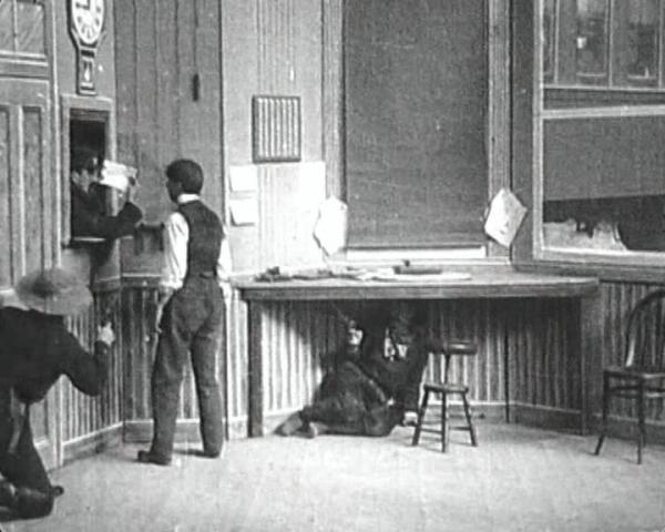 "Edwin S. Porter's<strong> </strong><em>The Great Train Robbery</em> (1903) is a 12-minute film that employs one of the first known uses of the cinematic ""cut."""