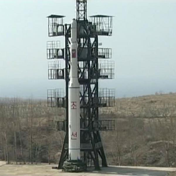 A 2009 image released by Korean Central News Agency of a medium-range Musudan missile.