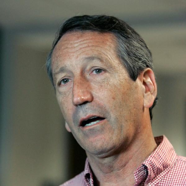 Former South Carolina Gov. Mark Sanford speaks to media after casting his vote on Tuesday.