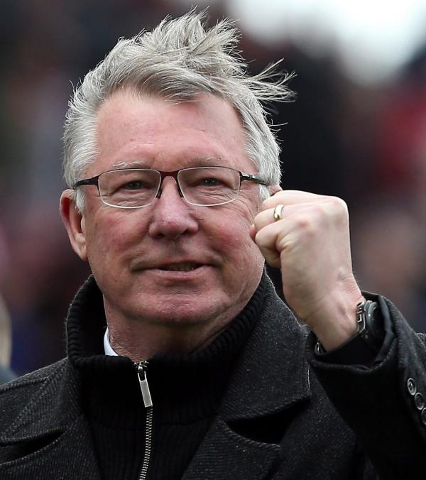 Manchester United manager Sir Alex Ferguson during a match in April.