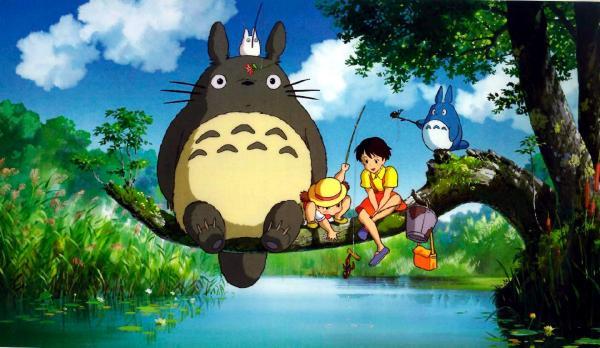 A scene from Hayao Miyazaki's 1988 film, <em>My Neighbor Totoro</em>.