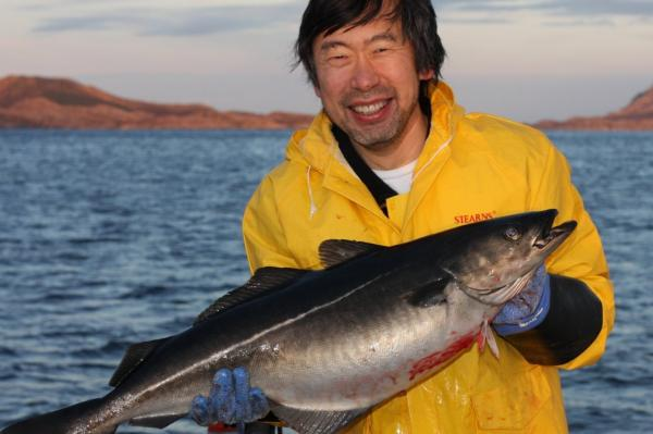When Chen went fishing, coming back with something for dinner, like this pollock, was pretty much guaranteed.