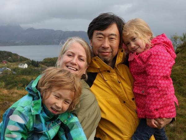 "Marcus, Kristin, Winston and Nora (from left) left their ""Arctic dream"" in the summer of 2012 to return to Boston."