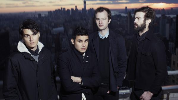 <em></em>Vampire Weekend's third album is titled <em>Modern Vampires of the City</em>. Singer Ezra Koenig (far left) says he sees it as the closing chapter of a trilogy.