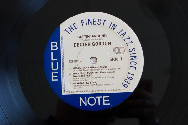 <strong>Blue Note Records<br /></strong>(<em>Gettin' Around</em> by Dexter Gordon, 1965)