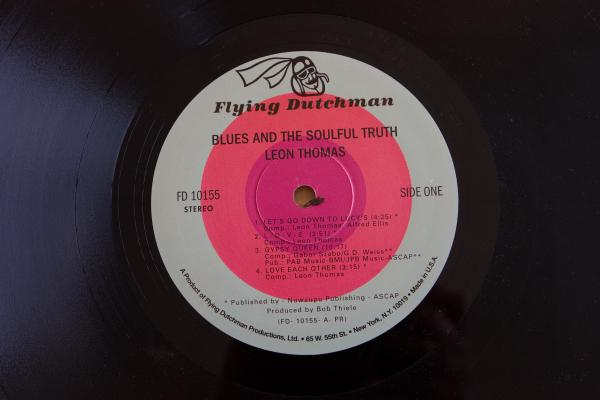 <strong>Flying Dutchman Records</strong><br />(<em>Blues and the Soulful Truth</em> by Leon Thomas, 1972)