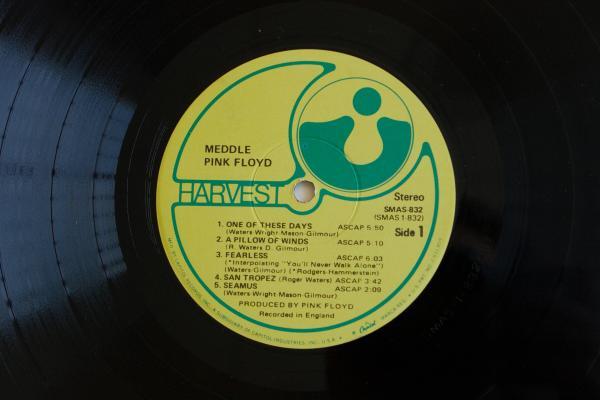 <strong><em></em></strong><strong>Harvest Records</strong><br />(<em>Meddle</em> by Pink Floyd, 1971)