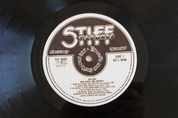 <strong>Stiff Records</strong><br />(<em>New Boots and Panties!!</em> by Ian Dury, 1977)