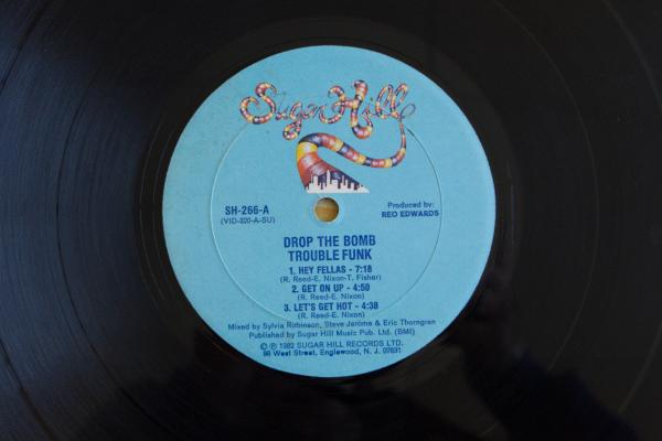 <strong>Sugar Hill Records</strong><br />(<em>Drop the Bomb</em> by Trouble Funk, 1982)