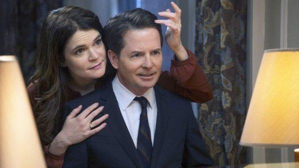 Betsy Brandt and Michael J. Fox star in NBC's <em>The Michael J. Fox Show</em>, coming this fall.