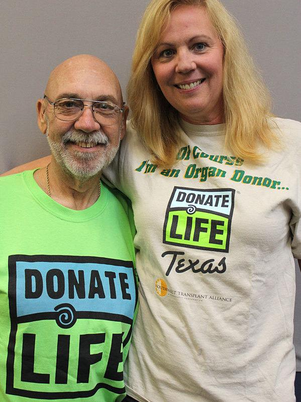 Six years ago, Rick Bounds was told he would die without a kidney and liver transplant. Today he is a triathlete, thanks to donor organs from Dorothy Biernack's late husband, Marty.