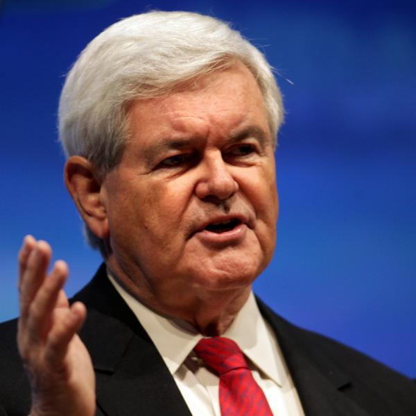 Former House Speaker Newt Gingrich in April 2012.