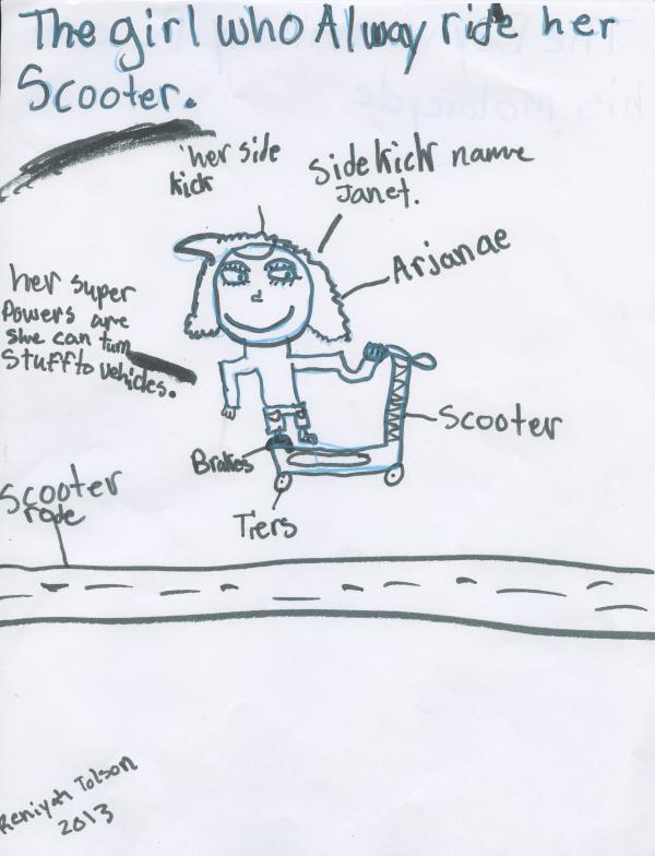 Reniyah Tolson, third grade