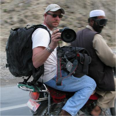 NPR photographer David Gilkey in Afghanistan's Kunar River Valley as he navigated closed roads on his way back to Kabul (2010).