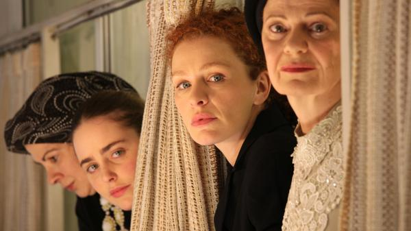 <strong>Domestic drama:</strong> Among the ultra-Orthodox world of Tel Aviv's Haredi Jews, Rivka (Irit Sheleg, left) and her daughter Shira (Hadas Yaron, second from left, with Hila Feldman and Razia Israeli) are confronted with a dilemma after a death in the family.