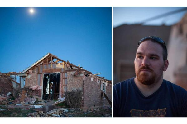 Matt Claxton is a chef at the hospital in Midwest City. He has lived with his wife in this home for nine years and in the Oklahoma City area for 32 years. They aren't sure whether they want to rebuild in this subdivision, but they're sure they will stay in the area.