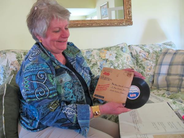As a child, Geraldine Conway Morenski would listen to her father's voice on a wax recording from 1944.