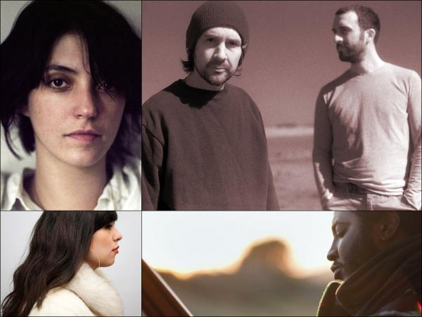 Clockwise from upper left: Sharon Van Etten, Boards Of Canada, Thundercat, Natasha Kmeto