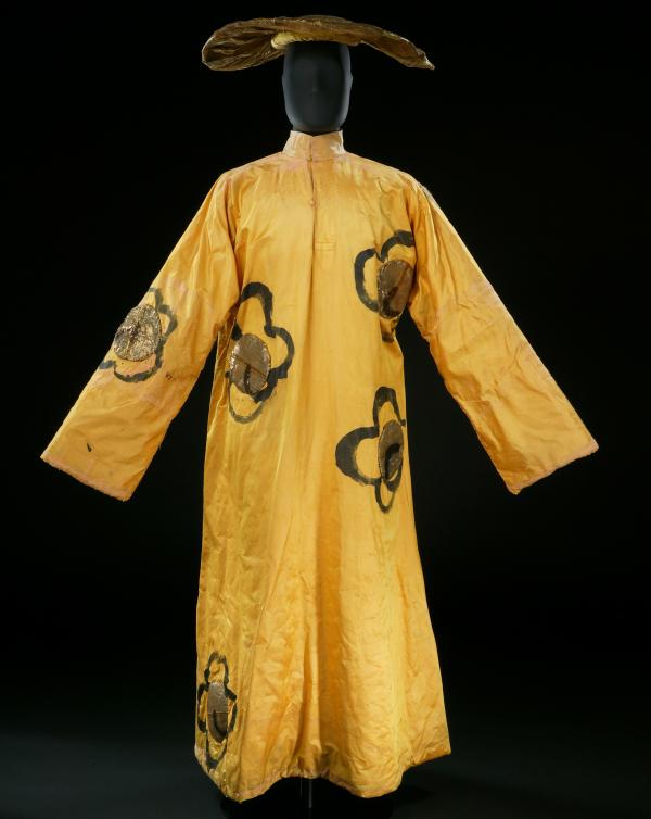 Henri Matisse's satin costume for a dancer in <em>The Song of the Nightingale</em> (1920).