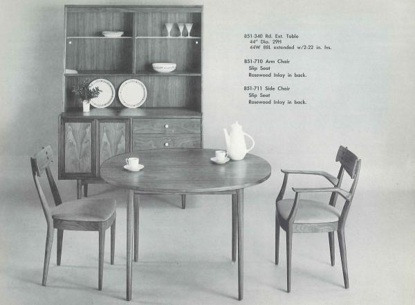 NPR's Andrea Hsu paid $75 for her midcentury modern table and chairs, shown here in a 1963 Drexel Declaration catalog. She quickly realized it was a steal.