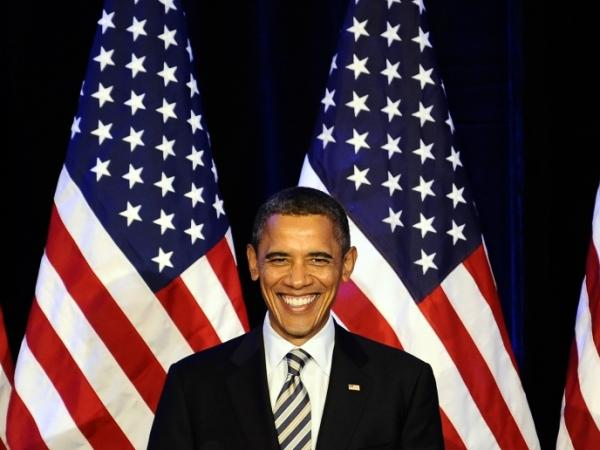 <p>President Barack Obama smiles during a campaign event in San Francisco, California, on Oct. 25, 2011.</p>