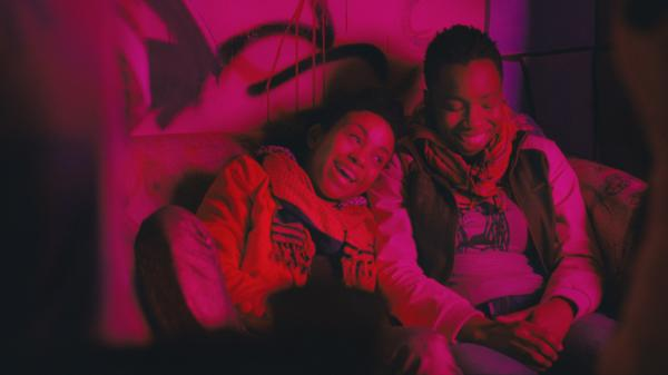 "Seventeen-year-old Alike (Adepero Oduye, right) finds a friend in Bina (Aasha Davis) in <em>Pariah</em>. Director Dee Rees says, ""Alike, the main character, knows she loves women — that's not her struggle. Her struggle's more how to be in the world."""