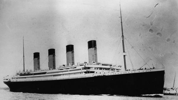 The Titanic, which sank 100 years ago in April.