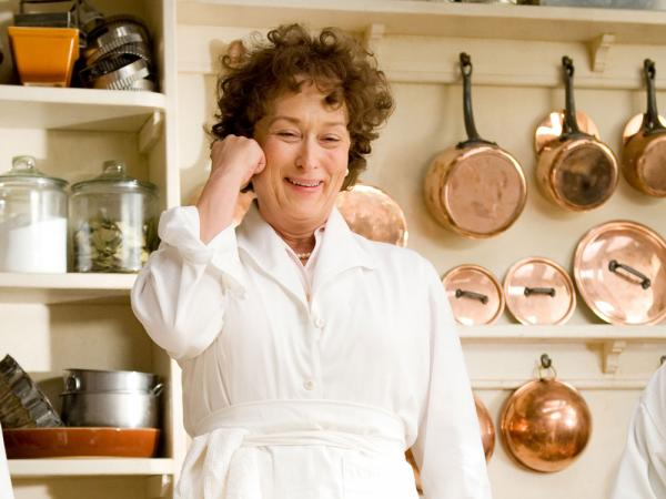 Meryl Streep played Julia Child in the 2009 Nora Ephron film <em>Julie and Julia</em>.