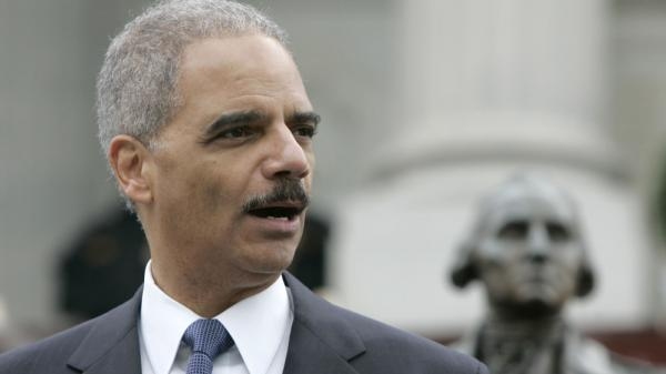 U.S. Attorney General Eric Holder speaks last month in Columbia, S.C. The state is now suing Holder over the Justice Department's decision to reject its new voter ID law.